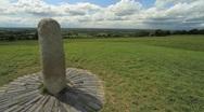 Stone of Destiny on the Hill of Tara, Ireland GFHD Stock Footage