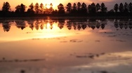 Stock Video Footage of Sunset on the River