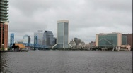 Stock Video Footage of jacksonville downtown from south bank