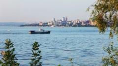 Samara on the Volga River city Stock Footage