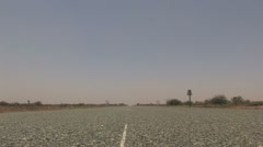 Outback Empty Road Stock Footage