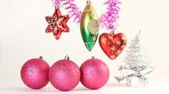 Christmas-tree decoration Stock Footage