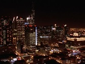 Chicago Skyline Lights at Night in Time-lapse – NTSC Stock Footage