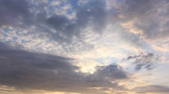 Timelapse Clouds Into the dark HD NTSC Stock Footage