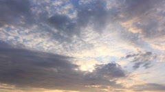Timelapse Clouds Into the dark HD PAL Stock Footage