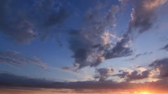 Timelapse Clouds Sun 2 Down HD PAL Stock Footage