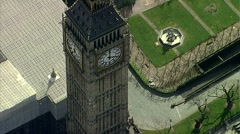 Stock Video Footage of Aerial shot of Big Ben London