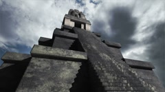 Maya Pyramid Clouds Timelapse 01 Stock Footage