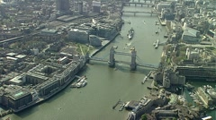 Stock Video Footage of Aerial view of tower Bridge London