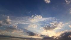 Timelapse Clouds Sun 3 Down 4K NTSC Stock Footage