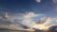 Timelapse Clouds Sun 3 Down HD PAL Stock Footage