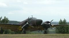 Beechcraft E18S / C45  F-AZEJ Stock Footage