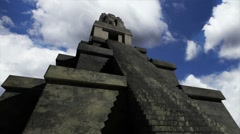 Maya Pyramid Clouds Timelapse 04 Stock Footage