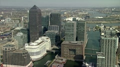 Aerial of London Skyline with O2 Arena Stock Footage