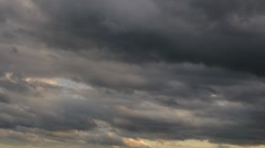 Timelapse Dark Clouds 4k NTSC Stock Footage