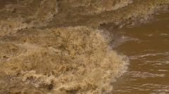 Deadly Hurricane/Storm Flood Mud Rushing Water with audio - stock footage