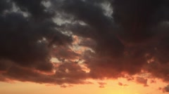 Timelapse Red Clouds HD NTSC Stock Footage