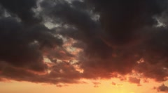 Timelapse Red Clouds HD PAL Stock Footage