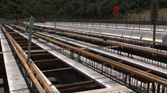 Pan to mulholland bridge Stock Footage