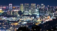 Beverly Hills at Night (Time lapse) Stock Footage