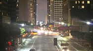 Stock Video Footage of Big City At Night (Time lapse)