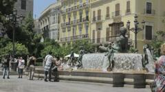 Turia Fountain Timelapse Stock Footage