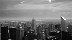 New York City Buildings in Black and White (non-empire state bldg shot) Stock Footage