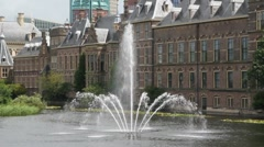 The Hague Fountain Stock Footage