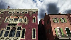 Venice Buildings Clouds Timelapse 01 Stock Footage