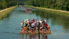 Float on isar river package 01 Stock Footage