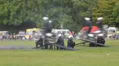 Motorbike display team (Royal Signals) Stock Footage