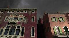 Venice Buildings Clouds Timelapse 03 Stock Footage