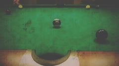 Pool game blow on ball Full HD Stock Footage