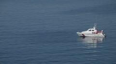 Italian Coast Guard boat emergency floating P HD 0872 Stock Footage