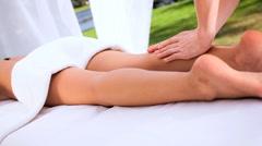 Asian Girl Enjoying Spa Massage Stock Footage