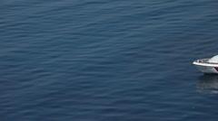 Italian Coast Guard boat injured person P HD 0869 Stock Footage