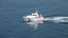 Italian Coast Guard emergency boat P HD 0865 Stock Footage
