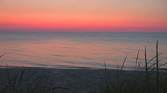 Sunset on Lake Michigan Stock Footage