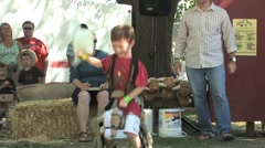 Stick horse kids rodeo Stock Footage