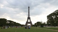 Stock Video Footage of Timelapse Footage of the Eiffel Tower in Paris 02