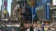 Timelapse zoom Times Square crowds, NY Stock Footage