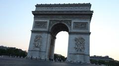 Timelapse of the Arc De Triumph in Paris France 01 - stock footage