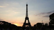 Timelapse Footage of the Eiffel Tower at Sunset in Paris 02 Stock Footage