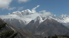 Timelapse of the Himalaya Mountains 01 - stock footage