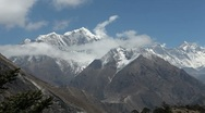 Timelapse of the Himalaya Mountains 01 Stock Footage