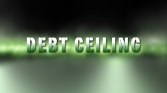 Debt Ceiling Credit Crisis - stock footage