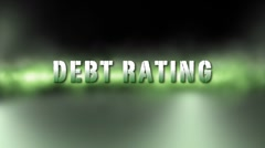 Debt Rating Downgrade Stock Footage