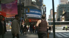 Stock Video Footage of Timelapse NYC - Man in a yellow jacket