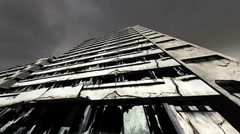 Abandoned Building Clouds Timelapse 03 fisheye Stock Footage