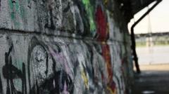 Wall under bridge v2 Stock Footage